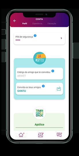 imagem da app com o programa de convidar amigos